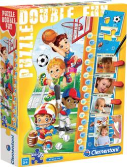Double Fun - Boys Puzzle Growth Chart Sports Children's Puzzles