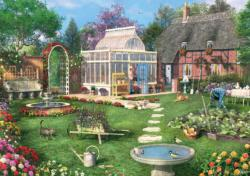 The Conservatory (Tea Time) Garden Jigsaw Puzzle