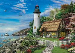 Romantic Lighthouse Seascape / Coastal Living Jigsaw Puzzle