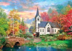 Colorful Autumn (HQC) - Scratch and Dent Sunrise/Sunset Jigsaw Puzzle