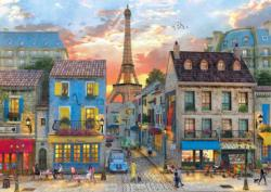 Streets of Paris Sunrise / Sunset Jigsaw Puzzle