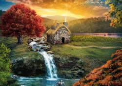 Mirage Waterfalls Jigsaw Puzzle