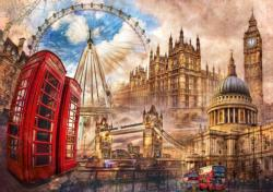 Vintage London London Jigsaw Puzzle