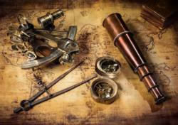Course to the Treasure - Scratch and Dent Maps / Geography Jigsaw Puzzle