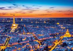 Paris View Sunrise / Sunset Jigsaw Puzzle