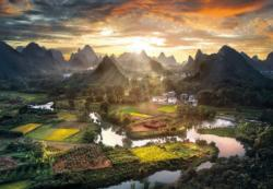 View of China Sunrise / Sunset Jigsaw Puzzle
