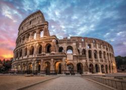 Coliseum Sunrise Monuments / Landmarks Jigsaw Puzzle