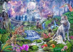 Moonlit Wild Forest Jigsaw Puzzle