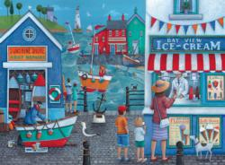 Ice Cream on the Sea Side (Tea Time) Seascape / Coastal Living Jigsaw Puzzle