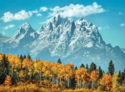 Grand Teton in Fall Landscape Jigsaw Puzzle