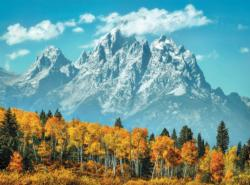 Grand Teton in Fall Landscape Jigsaw Puzzle