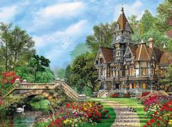 Old Waterway Cottage Cottage / Cabin Jigsaw Puzzle
