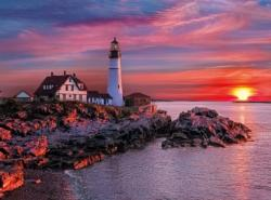 Portland Light Head Lighthouse - Scratch and Dent Lighthouses Jigsaw Puzzle