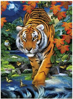 3D On the Prowl Tigers 3D Puzzle