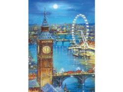Snow Flakes on Big Ben (Tea Time) Travel Jigsaw Puzzle