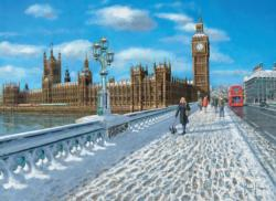 London Promenade in the Snow (Tea Time) Snow Jigsaw Puzzle
