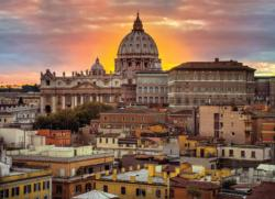 Rome at Sunset Landmarks Jigsaw Puzzle