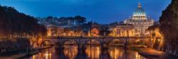 Rome Bridges Panoramic Puzzle