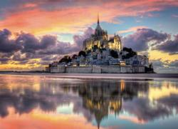 Le Magnifique Mont Saint-Michel Churches Jigsaw Puzzle