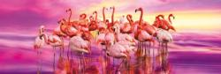 Flamingo Dance Birds Panoramic Puzzle