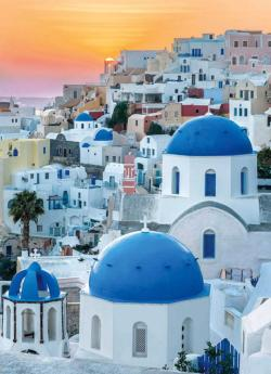 Santorini Sunrise / Sunset Jigsaw Puzzle