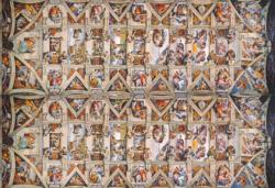 The Sistene Chapel Ceiling Renaissance Panoramic Puzzle