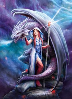 Dragon Mage Dragons Jigsaw Puzzle
