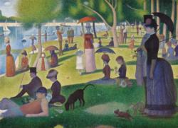 A Sunday Afternoon on the Island of La Grande Jatte Lakes / Rivers / Streams Jigsaw Puzzle