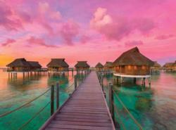Colorful Paradise Sunrise / Sunset Jigsaw Puzzle