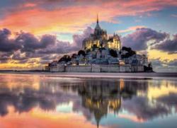 Mont St. Michel Sunrise / Sunset Jigsaw Puzzle