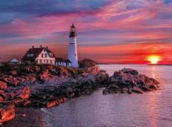 Portland Light Head Sunrise / Sunset Jigsaw Puzzle