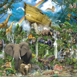 Ark Landing Jungle Animals Jigsaw Puzzle