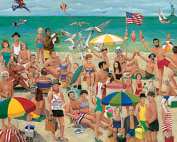 What a Beach! Famous People Jigsaw Puzzle