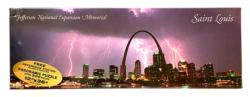 Saint Louis Arch Lightning Panoramic United States Panoramic Puzzle
