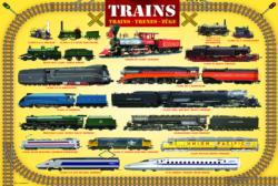 Trains Pattern / Assortment Jigsaw Puzzle