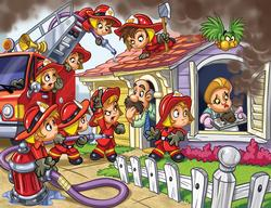 Firefighters Cartoons Jigsaw Puzzle