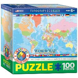 World Map for Kids Geography Children's Puzzles