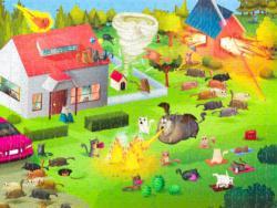 Housing Bloom Cartoon Jigsaw Puzzle