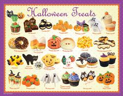 Halloween Treats Food and Drink Miniature Puzzle