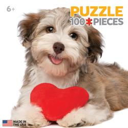 Dog with Heart Valentine's Day Miniature Puzzle
