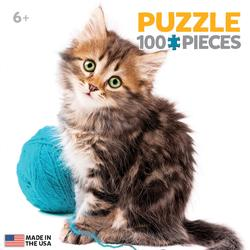 Kitten with Wool Cats Miniature Puzzle