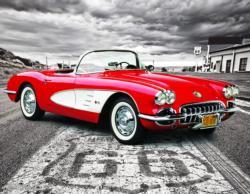 1959 Corvette Nostalgic / Retro Jigsaw Puzzle