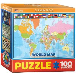 World Map for Kids Geography Jigsaw Puzzle