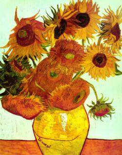 Twelve Sunflowers (Mini) Post Impressionism Miniature