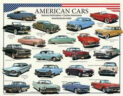 American Cars of the 50s (Mini) Collage Miniature Puzzle