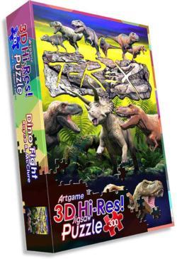 Dino Fight Dinosaurs Lenticular Puzzle