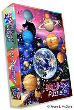 You Are Here Space Lenticular Puzzle