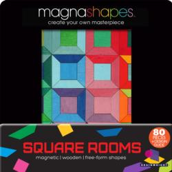 Square Rooms (Magna Shapes) Abstract Wooden Jigsaw Puzzle