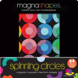 Spinning Circles (Magna Shapes) Abstract Wooden Jigsaw Puzzle