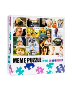 What Do You Meme Grid - Scratch and Dent Collage Jigsaw Puzzle